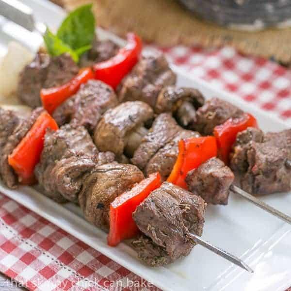 Grilled Beef Steak Kabobs