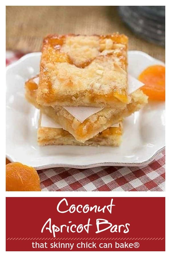 Coconut Apricot Bars collage