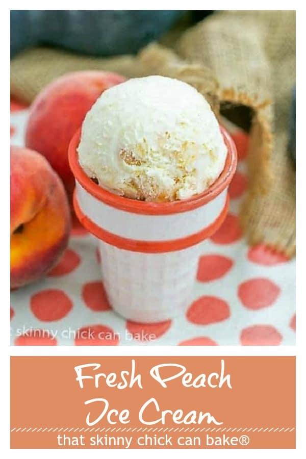 Fresh Peach Ice Cream collage