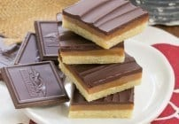 Ganache Topped Caramel Bars #Chocotoberfest