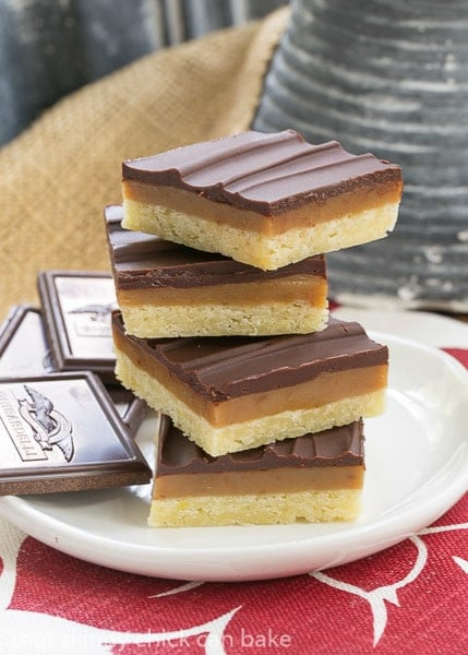 Ganache Topped Caramel Bars | Shortbread crust, caramel filling and creamy ganache topping make for one exquisite bar cookie
