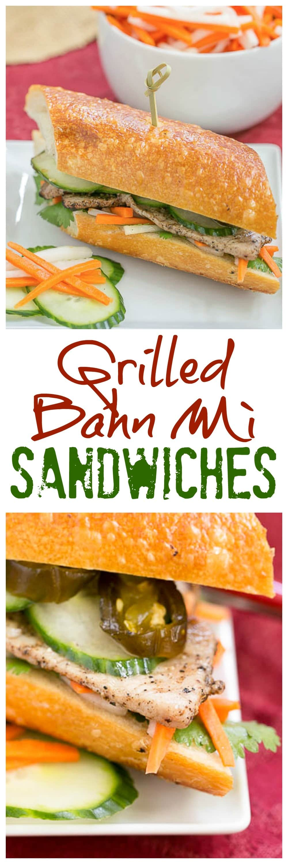 Grilled Pork Báhn Mì Sandwich | The classic Vietnamese sandwich you can make at home!