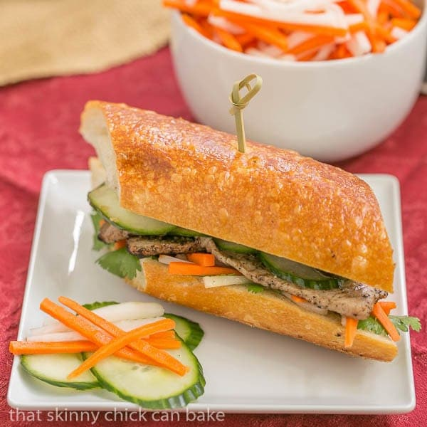 Grilled Pork Báhn Mì Sandwich