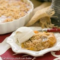 Classic Peach Crisp - Sweetened peaches with a buttery, brown sugar crisp topping
