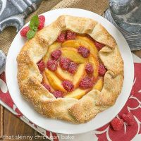 Peach Raspberry Galette - A rustic tart that's so much easier to make than pie!