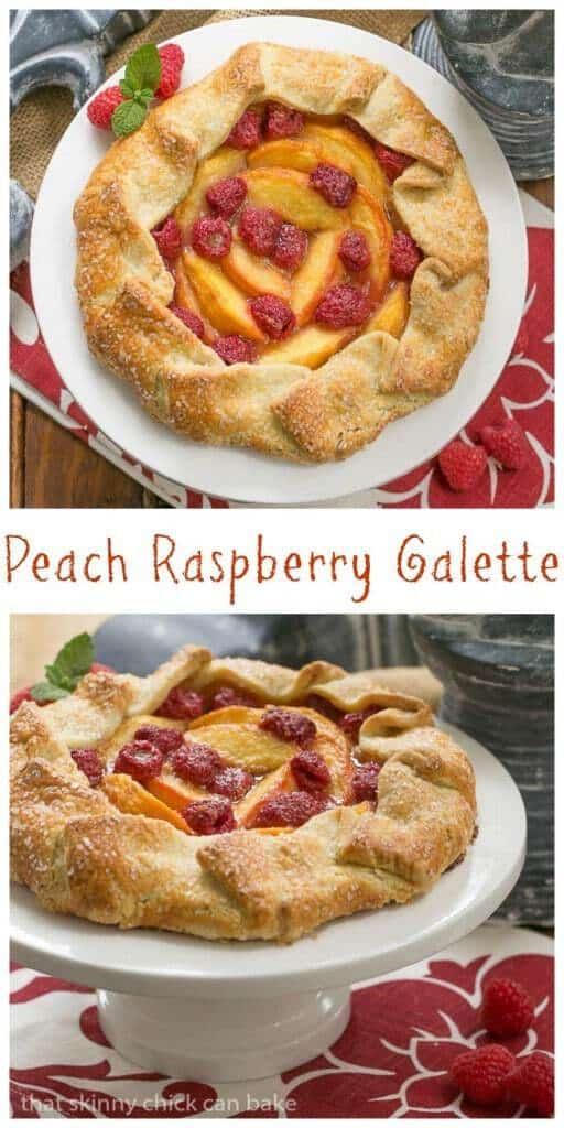 Peach Raspberry Galette   A rustic tart that's so much easier to make than pie!