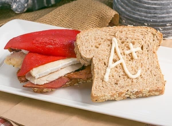 Roasted Chicken Brie and Bacon Sandwich   A scrumptious sandwich that'would perk up any lunch box!