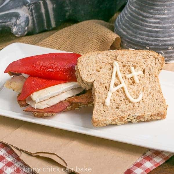 Roasted Chicken Brie and Bacon Sandwich