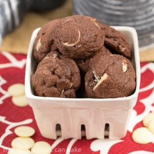 Triple chocolate cookies | Double chocolate dough with semisweet, milk and white chocolate chips