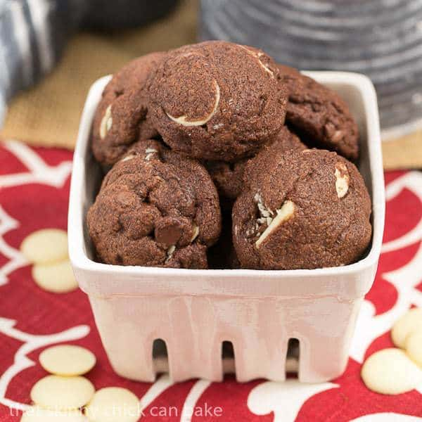 Triple chocolate chip cookies | Double chocolate dough with semisweet ...