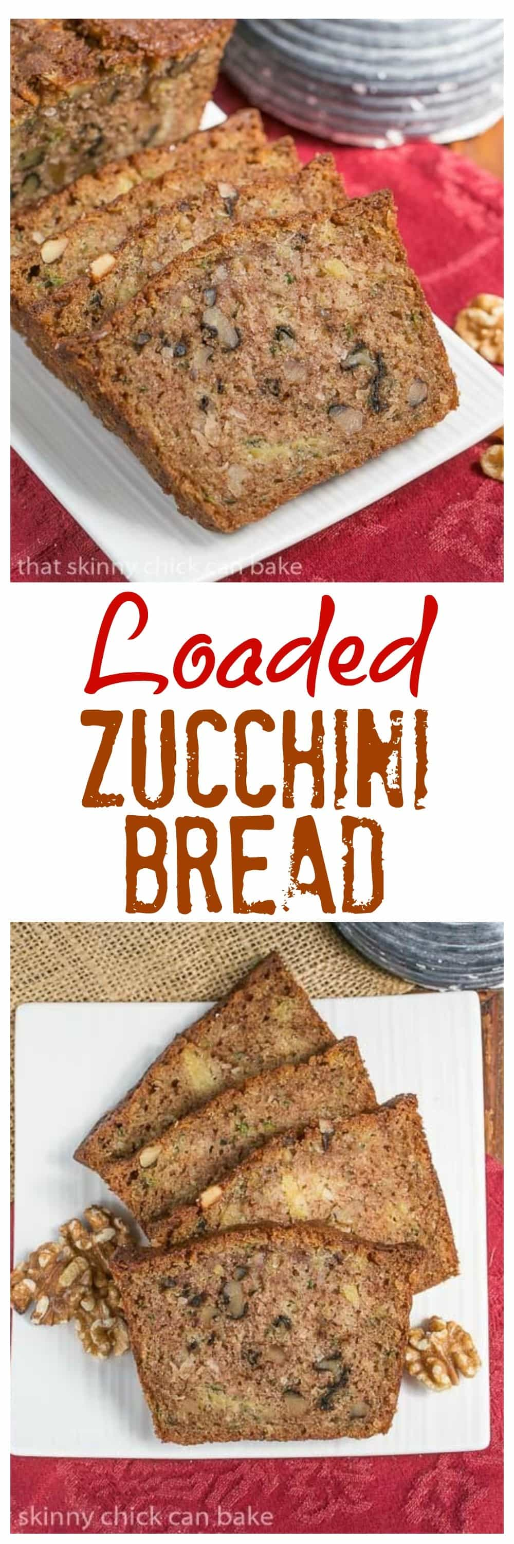 Pineapple Coconut Zucchini Bread - this loaded zucchini bread will win you over with your first bite! #zucchinibread #quickbread #pineapple #coconut