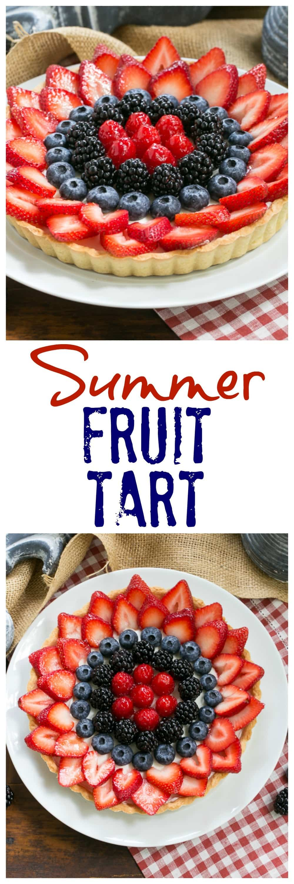 Summer Fruit Tart collage
