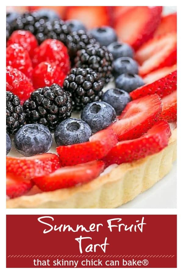 Summer fruit tart pin collage