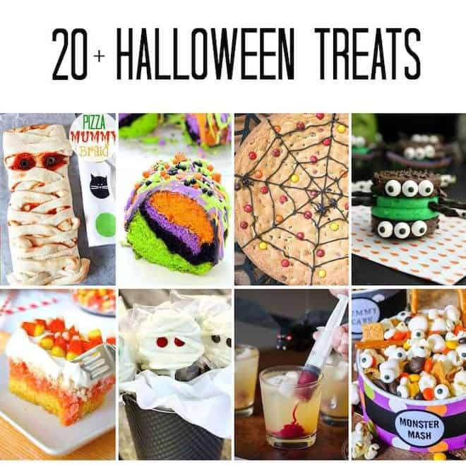 20+ Halloween Treats photo collage of 8 images