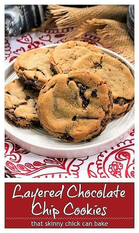 vLayered chocolate chip cookies pinterest image