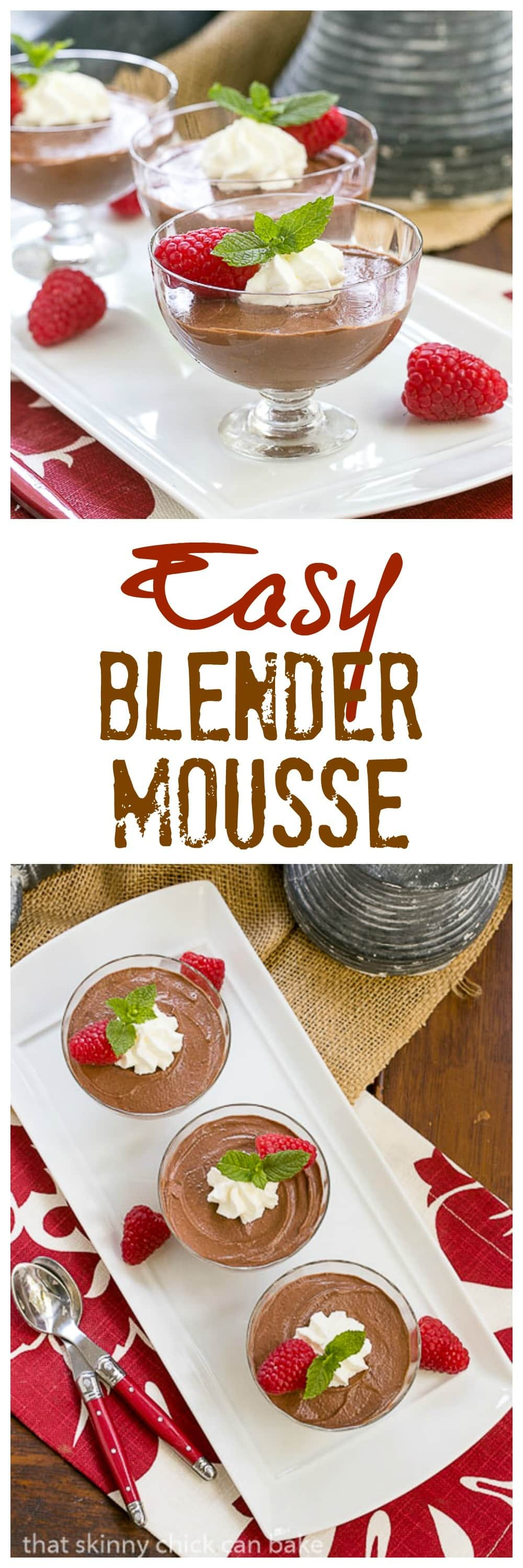 Blender Chocolate Mousse| The easiest chocolate mousse ever!!!