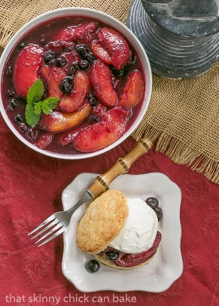 Blueberry Peach Shortcakes