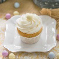 Buttercream Topped Vanilla Cupcakes - Delightfully delicious vanilla cupcakes!