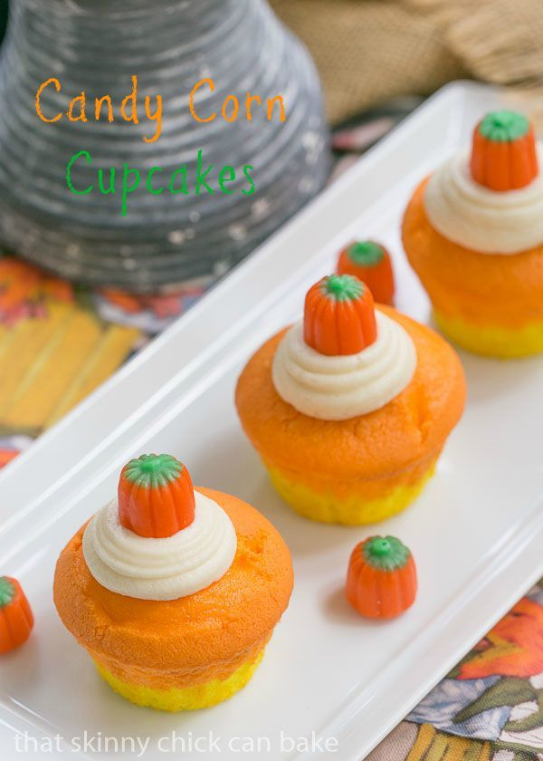 The Halloween Project Week One - Candy Corn Cupcakes