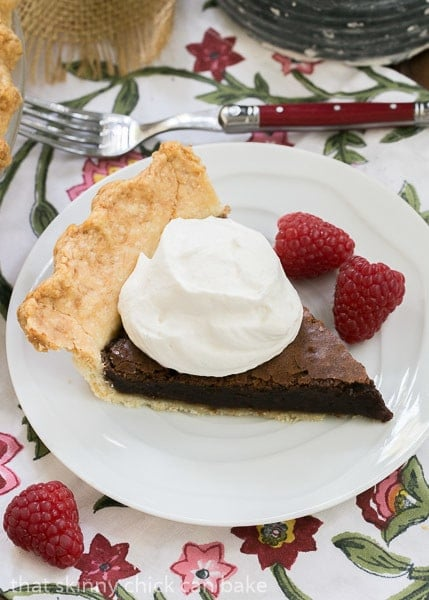 Brownie Pie | Brownie filling in a flakey pastry shell