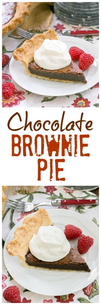 Brownie Pie | Brownie filling baked in a flaky pastry shell