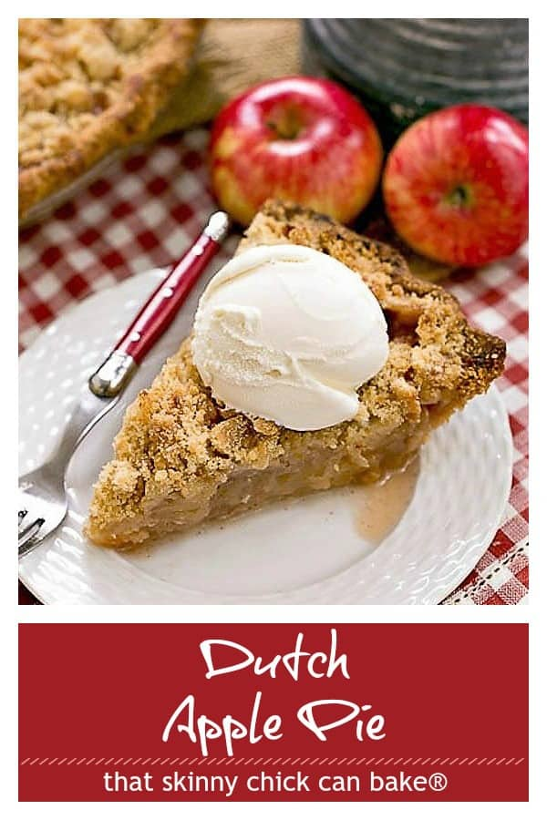 Dutch apple pie photo and text collage