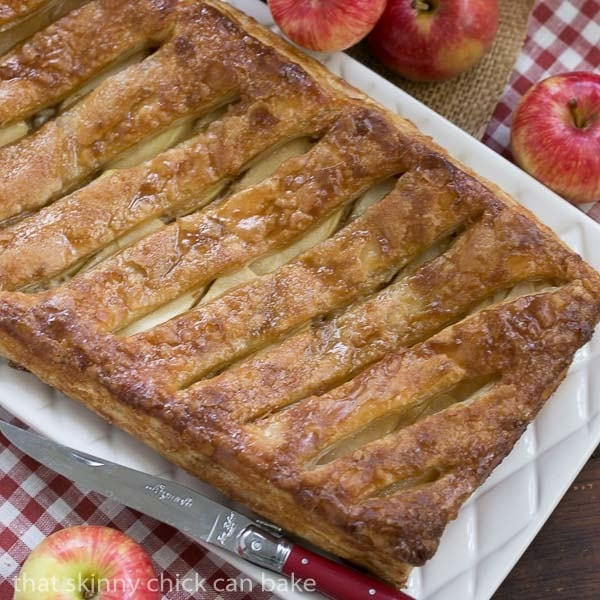 ... Glazed Apple Tart | Puff pastry, sweetened cream cheese, apples