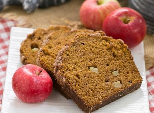 Pumpkin Bread with Apples - Two fall favorites rolled into one delicious loaf