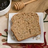 Sunflower Whole Wheat Bread - A whole wheat quick bread with oats, buttermilk and sunflower seeds!