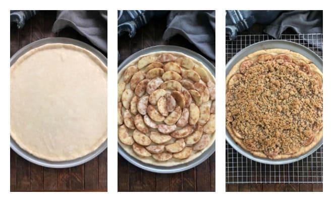 Apple Pie Pizza Process shots collage