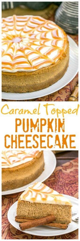 Caramel Topped Pumpkin Cheesecake | A dreamy autumn dessert