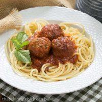 Spaghetti with Sunday Gravy | Slowly simmered Sunday gravy made the Italian way!