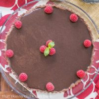 Dark Chocolate Tart - Made with a cocoa pastry, silky bittersweet chocolate filling and ganache topping,
