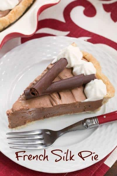 Classic French Silk Pie - A sublime, dreamy chocolate creation. The richest, creamiest chocolate pie you'll ever encounter! #dessert #pie #chocolate #Frenchsilk