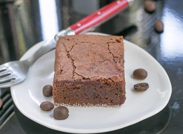 Fudgy Mocha Brownies | Dense and decadent, with a dose of espresso powder to intensify the chocolate flavor!