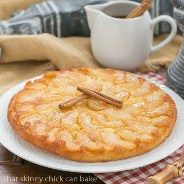 German Apple Pancake | Baked in a skillet with cinnamon apples and drizzled with apple-cinnamon syrup