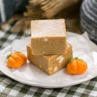 Easy Pumpkin Fudge - A simple, autumn spiced candy!
