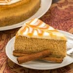 Caramel Topped Pumpkin Cheesecake | A dreamy autumn dessert