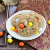 M&M White Chocolate Macadamia Nut Cookies | Chewy, buttery cookies filled with white chocolate, M&M's and macadamia nuts