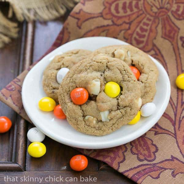 M&M White Chocolate Macadamia Nut Cookies - Chewy, buttery cookies filled with white chocolate, M&M's and macadamia nuts