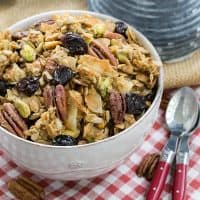 Maple Granola | An irresistible granola sweetened with maple syrup and full of nuts, seeds and dried cherries