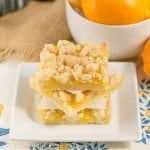 Meyer Lemon Streusel Bars #PAMCookingSpray #ad