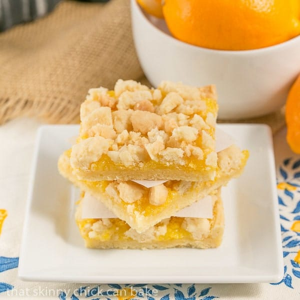 Meyer Lemon Streusel Bars | A scrumptious lemon bar with a sugar ...
