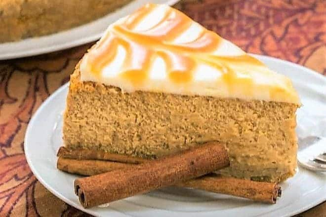 Pumpkin Cheesecake - an exquisite, seasonal cheesecake with a stunning caramel topping
