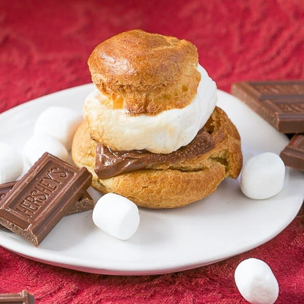 S'mores Cream Puffs | A gourmet s'mores dessert that will dazzle your friends!