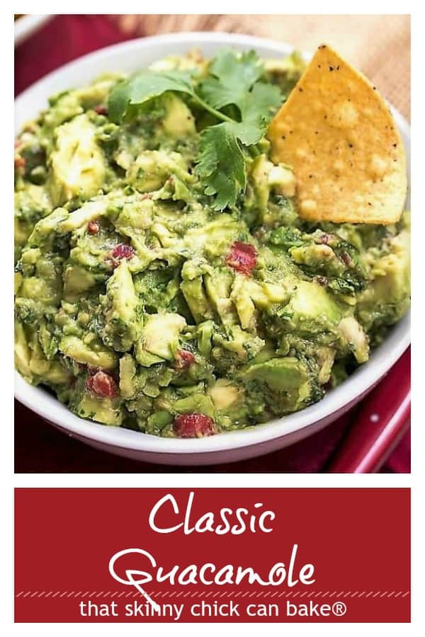 Classic Guacamole photo and text collage
