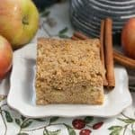 Apple Coffee Cake | Filled with chopped apples, warm spices and topped with a brown sugar and cinnamon streusel
