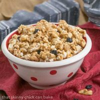 Caramel Corn with Cashews and Cherries | Perfect snack for game day or movie night