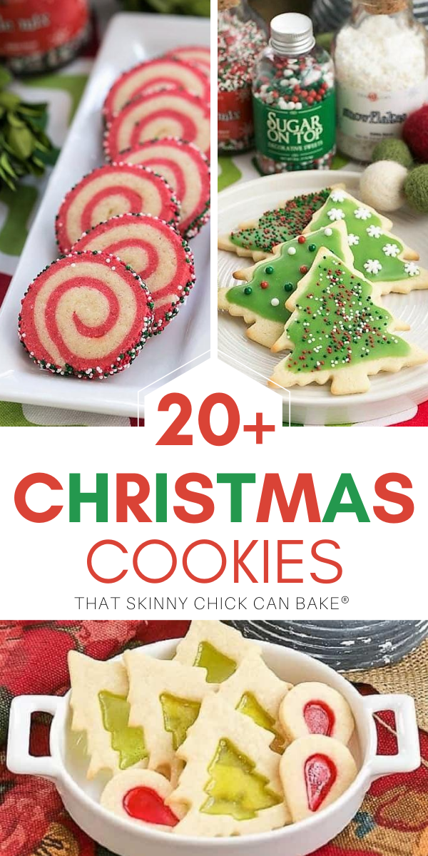Christmas Cookies collage with 3 photos and a text box