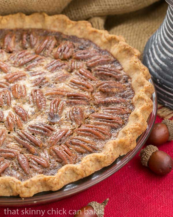 Classic Pecan Pie, spiked with bourbon in a pastry crust